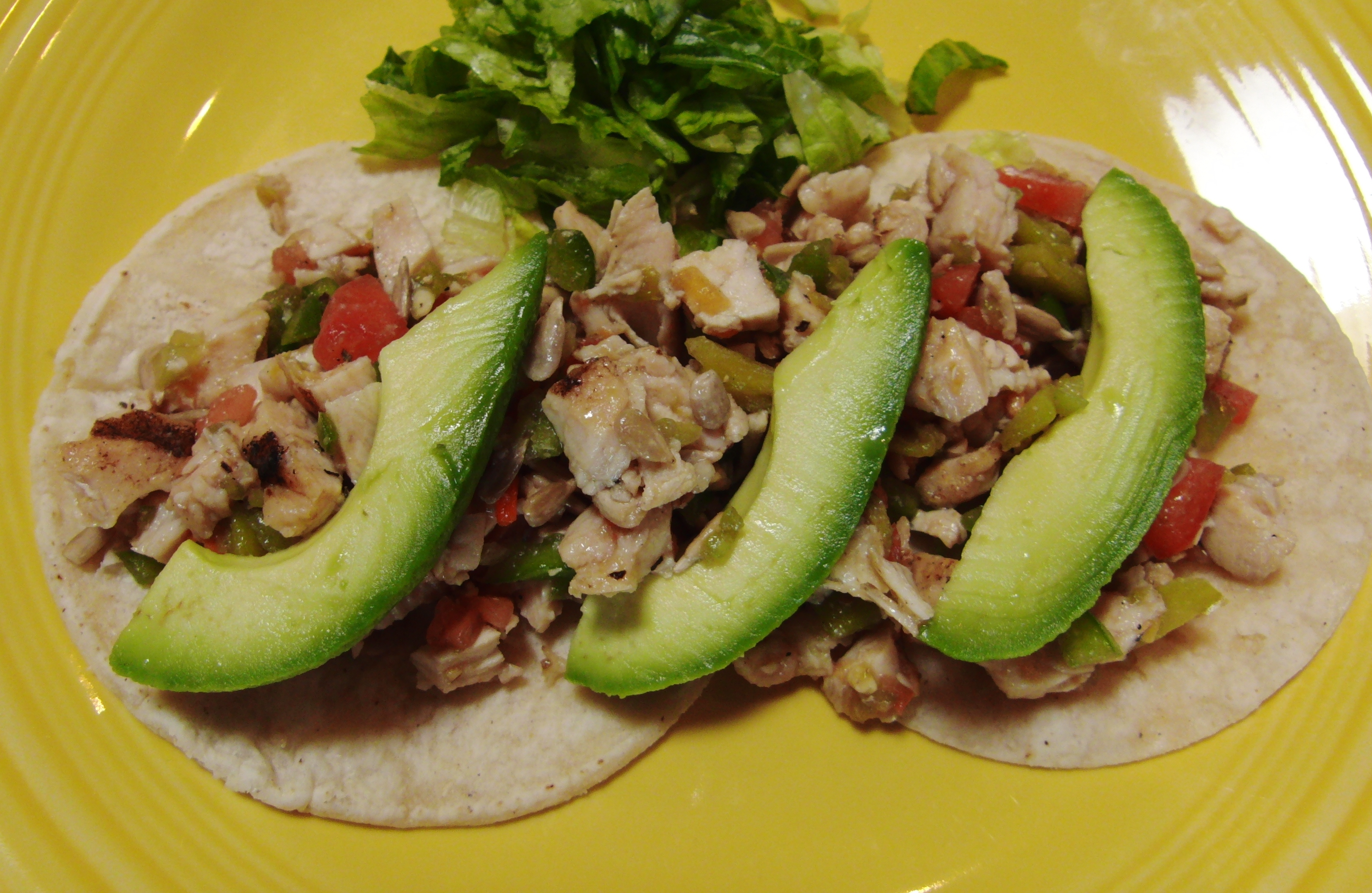 This taco is colorful and full of flavor and texture. Top it with a ...